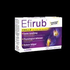Efirub® - prehransko dopolnilo pri gripi in prehladih*, 16 praškov